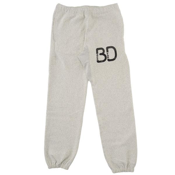 【BACKDROP】(バックドロップ) BD LOGO PRINT SWEAT PANTS / BDロゴ プリント スウェット パンツ (オートミール) 渋谷 バックドロップ 渋谷の老舗アメカジショップ the back drop 定番 アメカジ リラックス スポーツ メンズ