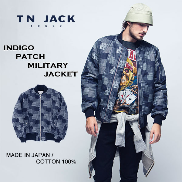 【40%OFF】【T.N JACK】(ティーエヌジャック) Indigo Patch Military Jacket (ネイビー) / インディゴパッチ ミリタリージャケット メンズ デニム キャップ 帽子 アメカジ 渋谷 バックドロップ 老舗アメカジショップ back drop