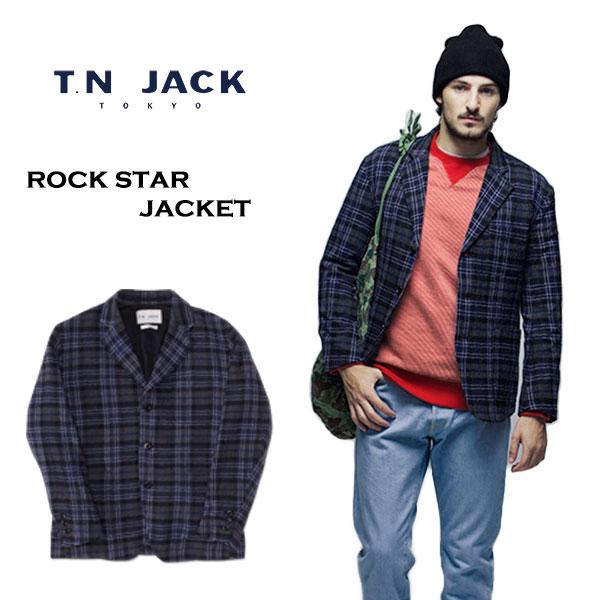 【40%OFF】【T.N JACK】(ティーエヌジャック) Rock Star Jacket (ブルー) / ロックスター ジャケット メンズ ジャケット アメカジ 渋谷 バックドロップ 老舗アメカジショップ back drop 日本製 メイドインジャパン 送料無料