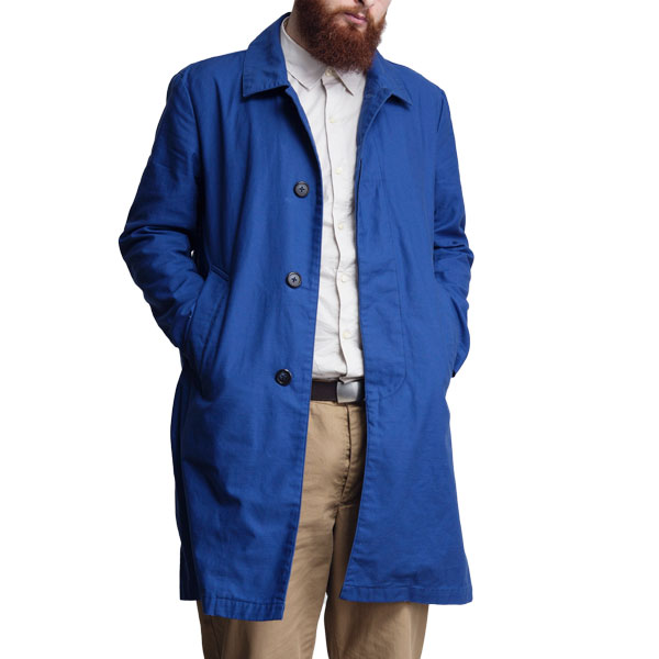 【60%OFF】【T.N JACK】(ティーエヌジャック) Stain Color Coat (ネイビー) / ステンカラー コート メンズ アメカジ 渋谷 老舗アメカジショップ back drop 日本製 メイドインジャパン