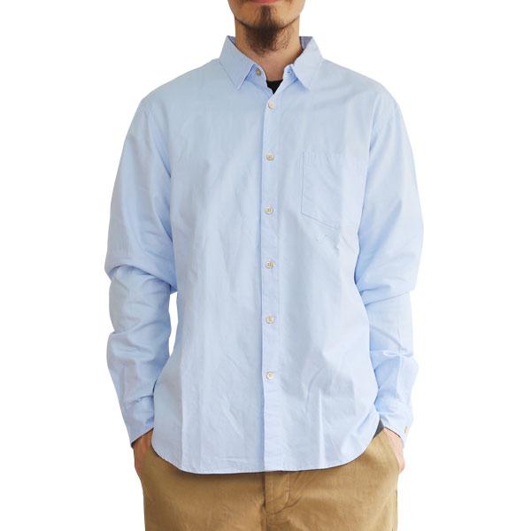 【T.N JACK】(ティーエヌジャック) One Wash Oxford LS Shirt (ブルー) / ワンウォッシュ オックスフォード ロングスリーブ シャツ メンズ アメカジ 渋谷 バックドロップ 渋谷の老舗アメカジショップ back drop 日本製