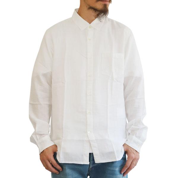 【T.N JACK】(ティーエヌジャック) W Gauze Shirt (ホワイト) / ダブルガーゼ シャツ メンズ アメカジ 渋谷 老舗アメカジショップ back drop 日本製 メイドインジャパン 送料無料