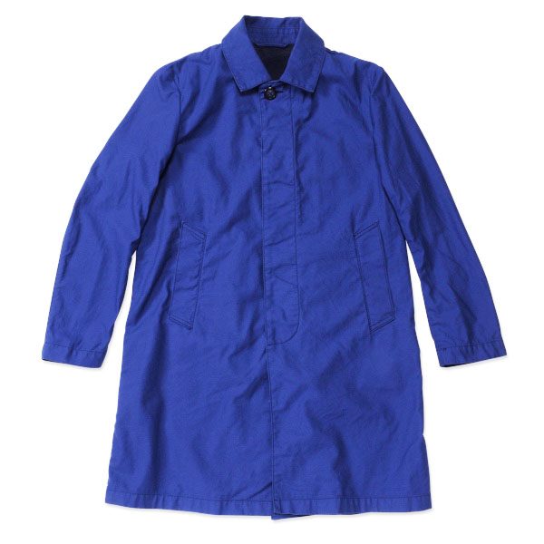 【T.N JACK】(ティーエヌジャック) Stain Color Coat (ネイビー) / ステンカラー コート 【メンズ】【アメカジ】【渋谷】【老舗アメカジショップ】【back drop】【日本製】【メイドインジャパン】【送料無料】