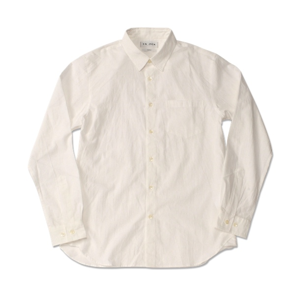 【T.N JACK】(ティーエヌジャック) Paisley Shirt (ホワイト) / ペイズリーシャツ メンズ アメカジ 渋谷 老舗アメカジショップ back drop 日本製 メイドインジャパン 送料無料