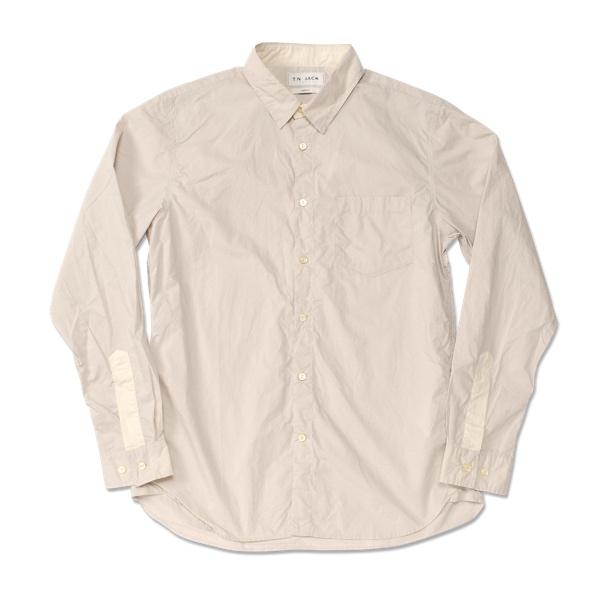 【T.N JACK】(ティーエヌジャック) Vintage Washer Shirt (ベージュ/アイボリー) / ヴィンテージ ワッシャーシャツ メンズ アメカジ 渋谷 老舗アメカジショップ back drop 日本製 メイドインジャパン 送料無料