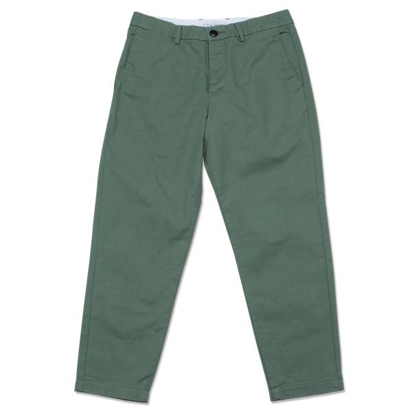【T.N JACK】(ティーエヌジャック) Cropped Pant (グリーン) / クロップド パンツ メンズ アメカジ 渋谷 老舗アメカジショップ back drop 日本製 メイドインジャパン 送料無料