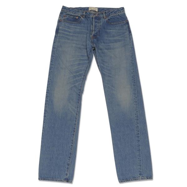 【T.N JACK】(ティーエヌジャック) Classic 5 Pocket Jeans [Hard-Washed] (ブルー) / クラシック 5ポケット ジーンズ (ハードウォッシュ) メンズ アメカジ 渋谷 老舗アメカジショップ back drop 日本製 メイドインジャパン 送料無料