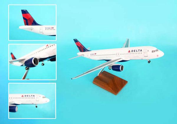 SKYMARKS 1/100 デルタ航空 A320 新塗装 木製スタンド&ギア付き (SKR8304)