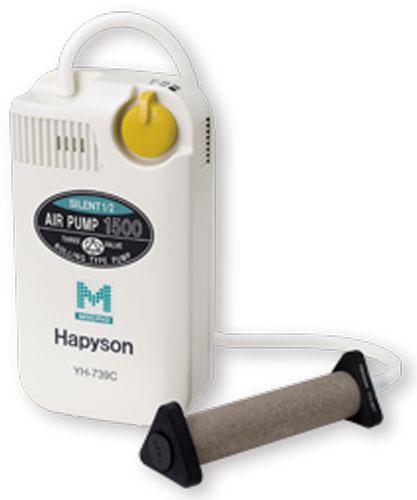 ハピソン YH-739C乾電池式エアーポンプ マーカー機能