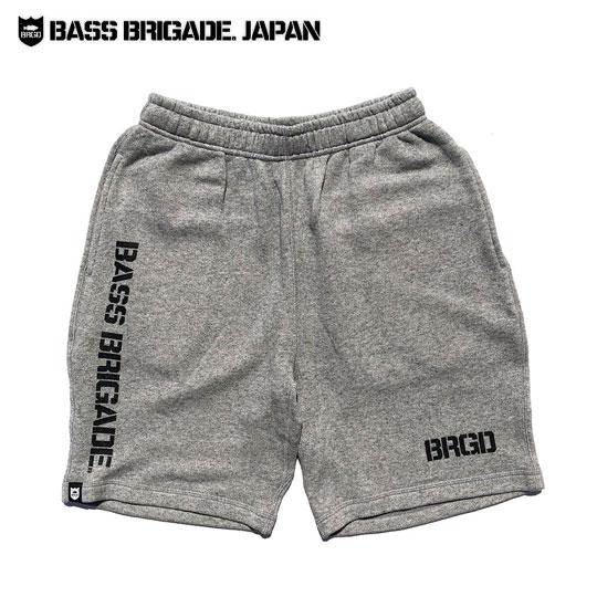 バスブリゲード BRGDロゴスウェットショートパンツ 【BLSS01】 BASS BRIGADE BRGD LOGO SWEAT SHORTS