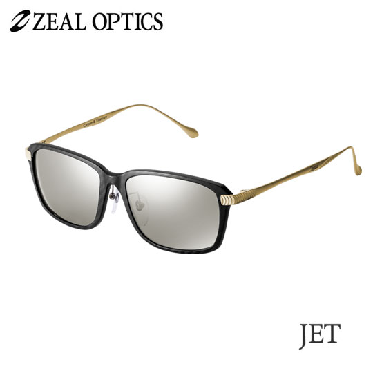 zeal optics(ジールオプティクス) 偏光グラス ジェット F-1783 #トゥルービュースポーツシルバーミラー ZEAL JET