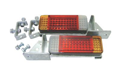 【取り寄せ商品】3連LEDランプ取付キット/ソレックス用 亜鉛メッキペイント品番19228