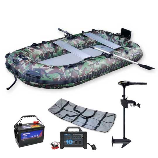 フーターズ PVC インフレータブル ボート(ゴムボート)B-HT280R 40lb エレキセット(ハンドコントロール)