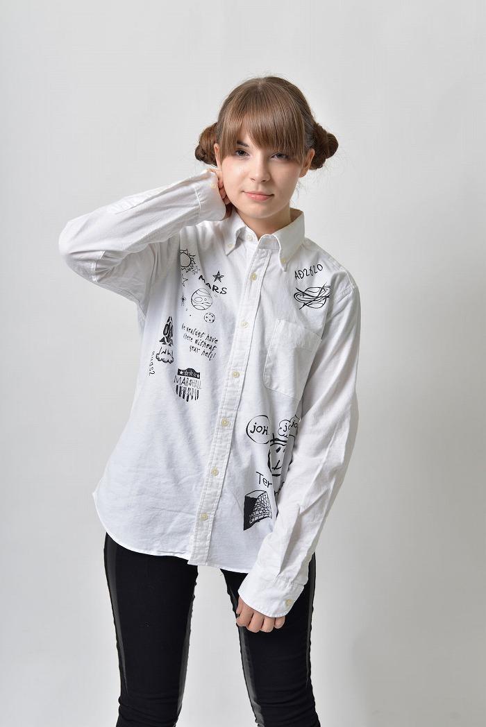 backside of tokyo (バックサイドオブトーキョー) 『テラフォーマーズ リベンジ』落書きシャツ(男女兼用)/