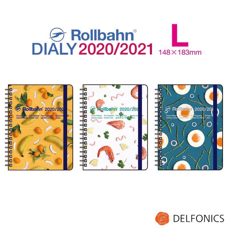 """ロルバーン ダイアリー L 2020 スケジュール帳 手帳  2020年3月始まり2021年4月まで デルフォニックス The Rollbahn Monthly Planner """"eating patterns"""" Edition from DELFONICS"""