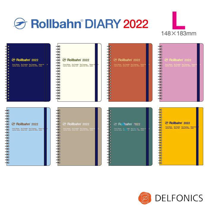 ラインナップで最も人気のLサイズ 携帯性と実用性を兼ね備えた 本店 バイブルサイズよりもさらに余裕の幅広タイプ ロルバーン 2022 激安 激安特価 送料無料 ダイアリー 手帳 L スケジュール帳 B6変型 2021年10月始まり デルフォニックス DELFONICS Monthly 2022年12月まで from The Rollbahn Edition Planner Basic