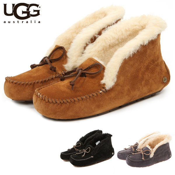 795618c56f1 UGG arena BOA Womens boots aguu pork store / genuine featured UGG moccasin  shoes fur Alena moccasin's