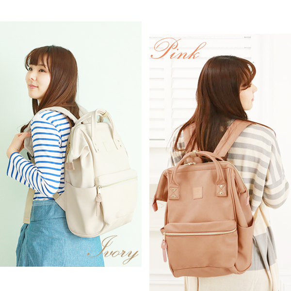 4e94c2d41e2 ... Anello Luc anello Luc Anello ladies backpack mothersluc with leather  with handle Cap with large school ...