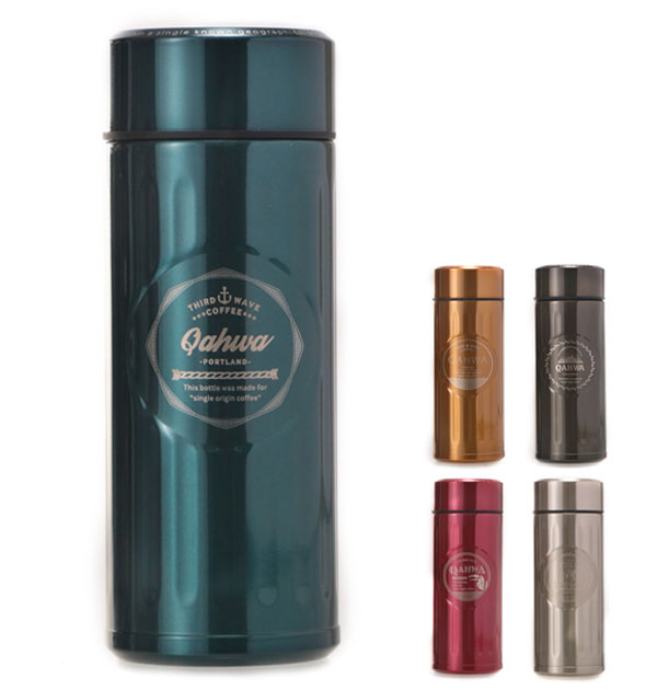 MAG bottle kahua QAHWA stainless steel bottle Teflon processing COFFEE spill-resistant classic embossed design fashionable insulated thermal insulation straight drinking drinking mouth coffee bottle coffee water bottle coffee-only good water bottle and b