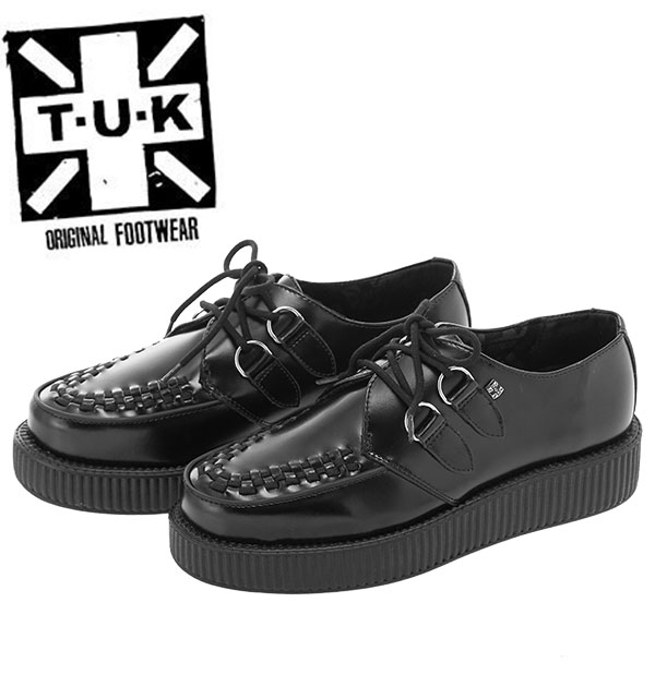 3ce8bb02bd87 BACKYARD  tuk rubber sole mail order thickness bottom shoes Lady s men punk  fashion rockabilly brand black leather leather shoes fashion rubber sole  Mods ...