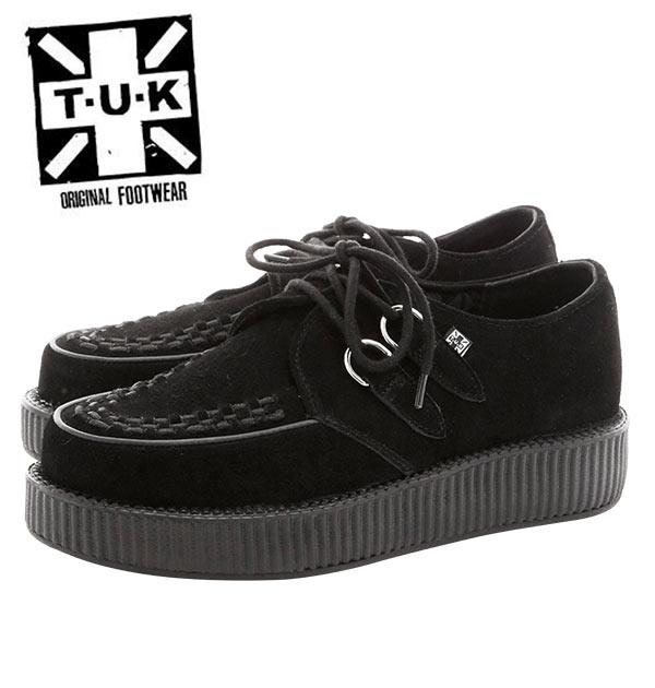 TUK ラバーソール 通販 厚底 ブランド 軽量 レディース パンクファッション ロック ロカビリー 黒 ブラック おしゃれ UKスタイル モッズ 靴 くつ クツ VIVA LOW ROUND CREEPER