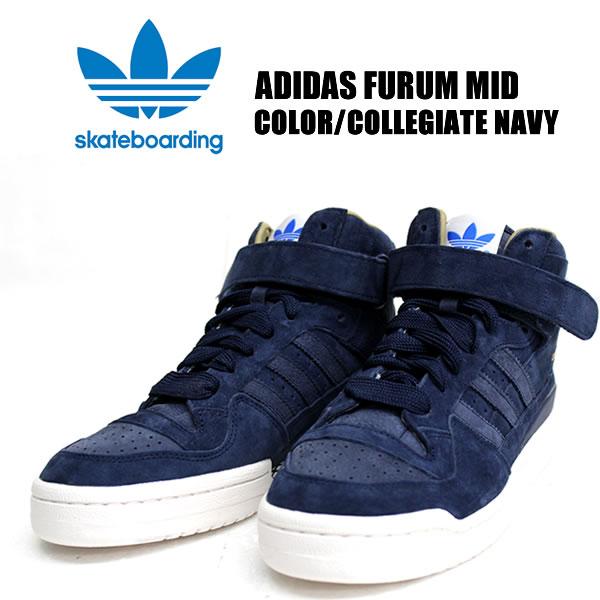 Badass Adidas Originals Adidas Originals Forum Mid Navy C77621