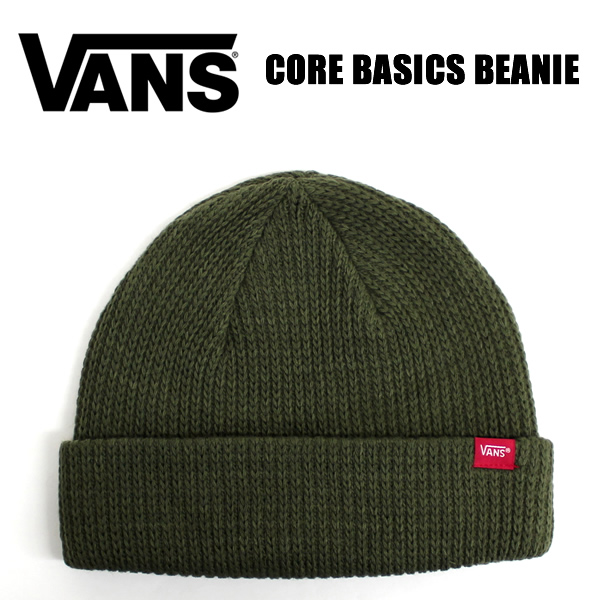 VANS caps CORE BASICS BEANIE Army Green mens women s skater Street casual 6b154a38fc8