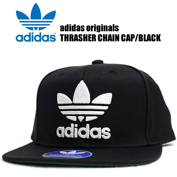 23670ec7395 Adidas originals caps mens Womens hats adidas originals men s fashion THRASHER  CHAIN CAP slasher Cap Black x white street of fashion sports snowboarding  ...