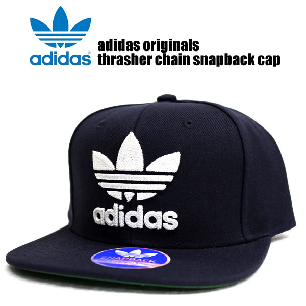 Sold out! Adidas originals caps mens Womens hats adidas originals men THRASHER CHAIN CAP slasher Cap Navy white street of fashion sports