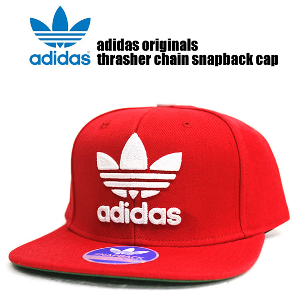 fb1dae2b45d Adidas originals Cap mens ladies Hat adidas originals men s fashion THRASHER  CHAIN CAP slasher Cap Red Red street of fashion sports snowboard HIPHOP b  ...