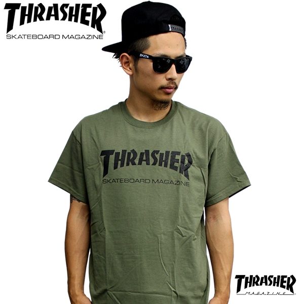 120f45286ce0 Introduce / product description. THRASHER / slasher. THRASHER LOGO S/S T shirt  olive