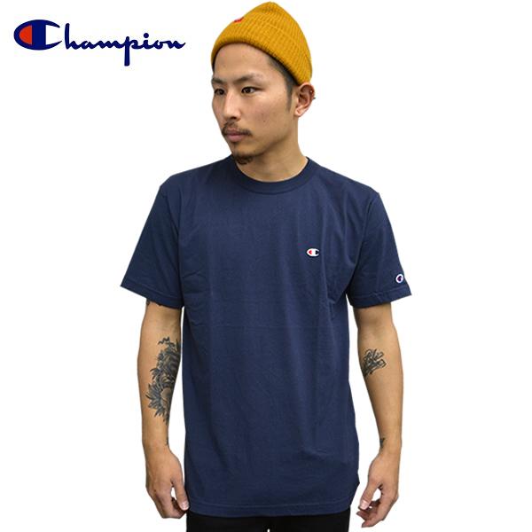 15bbdbdb Champion champion short sleeve T shirt crew neck basic plain gray cotton t-shirt  Navy ...