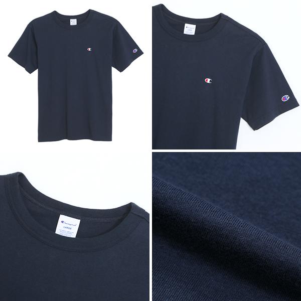 32424cfe0a63 badass: Champion champion short sleeve T shirt crew neck basic plain gray  cotton t-shirt Navy Street series men's ladies engaging casual M L XL    Rakuten ...