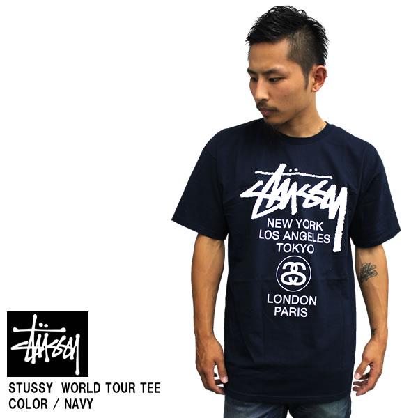 badass  Sold STUSSY Stussy short sleeve T shirt TEE WORLD TOUR world ... 613a93de5