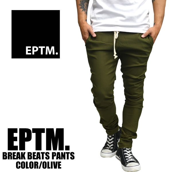 Sold EPTM epitome plain BREAKBEATSPANTS PANTS stretch pants olive mens Womens skinny — large stretch plain size big trainers room at American men's street fashion