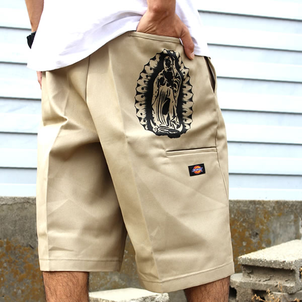 Dickies Dickies LA Los Angeles shorts shorts men's Maria MARIA khaki work pantsuchinopan gassho-style men's women's fashion work wearing dance costume HIPHOP B systems Street systems sturdy adult 20s 30s 40s big size big