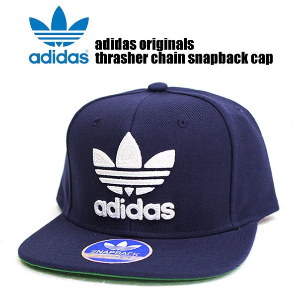 fcaed948eb0 Adidas originals Cap mens ladies Hat adidas originals men s fashion THRASHER  CHAIN CAP slasher Cap Navy Navy street of fashion sports snowboard HIPHOP b  ...