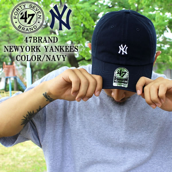 47 BRAND Yankees cap YANKEES New York Navy Navy cleanup summer men s ladies    Hat Hat skater sports skateboarding both of our hip hop fashion dance  costume ... 5d53bb0baf
