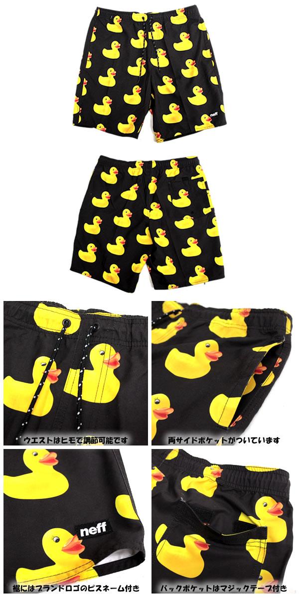 96f8b297bf ... Neff Neff swim pants swimwear duck RUBBER DUCKY HOT TUB SHORT MULTI  16P56012 Beach shorts swimwear