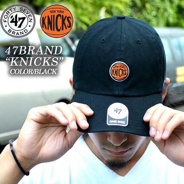 47 BRAND New York Knicks Cap toy CAP NY KNICKS NBA Black Black mens ladies  Hat ... aee8333bdd2