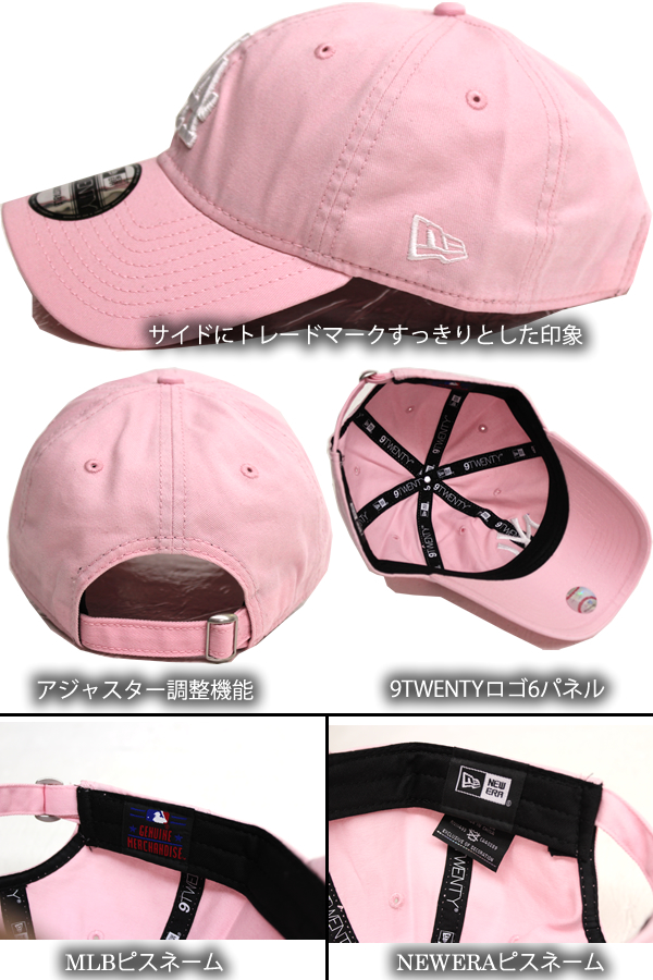 A new work! NEWERA new gills cap pink 9TWENTY New York Yankees 6PANEL MLB  NEWYORK YANKEES cap men gap Dis CAP hat hat adjuster fashion street casual  logo e1943c71c34