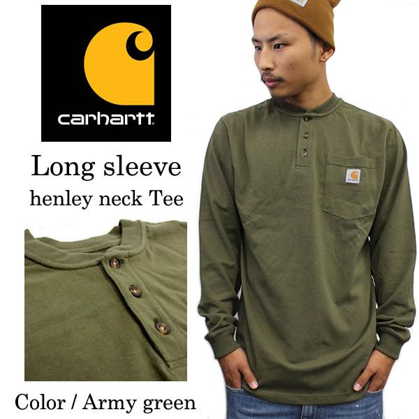 576a09fe Carhartt Carhartt Carhartt T shirts long sleeved green army men's large  size Carhartt carhartt Carhartt Ron