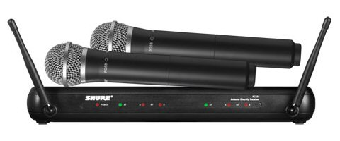 SHURE Shure model dual-channel wireless microphone system SVX288/PG28