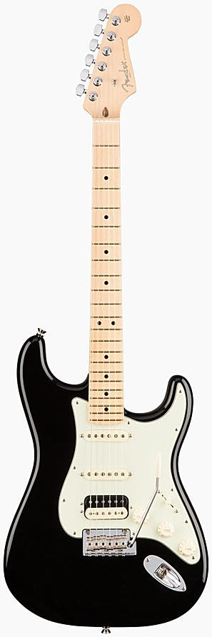 FENDER エレキギター AMERICAN PROFESSIONAL STRATOCASTER HSS SHAWBUCKER Maple Fingerboard, Black【smtb-ms】【zn】