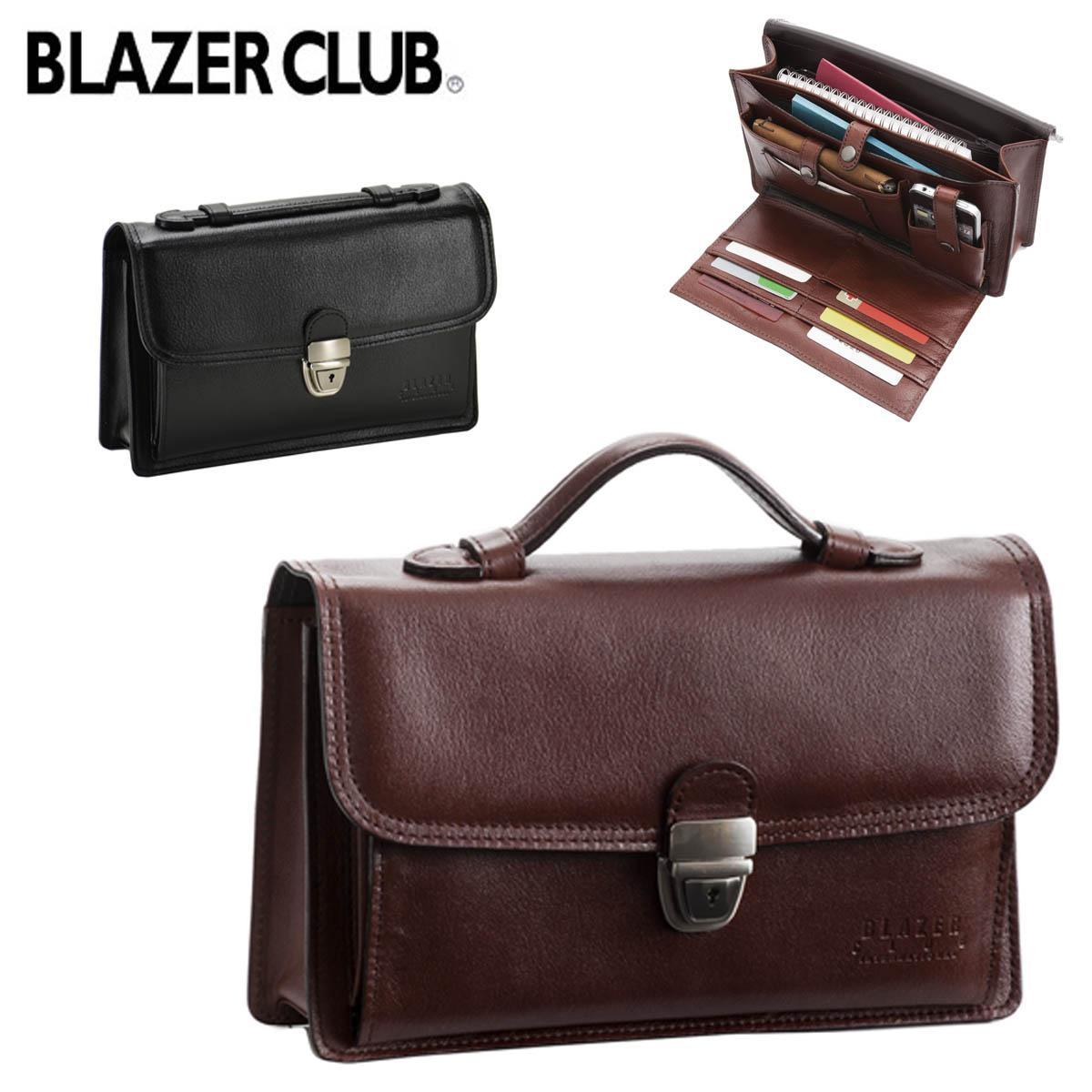 セカンドバッグ BLAZER CLUB ブレザークラブ No:25827 スマホ サイフ カード等の持ち運びに 整理し易い 使い込む程に味が出る 牛革素材 日本製 鞄倶楽部