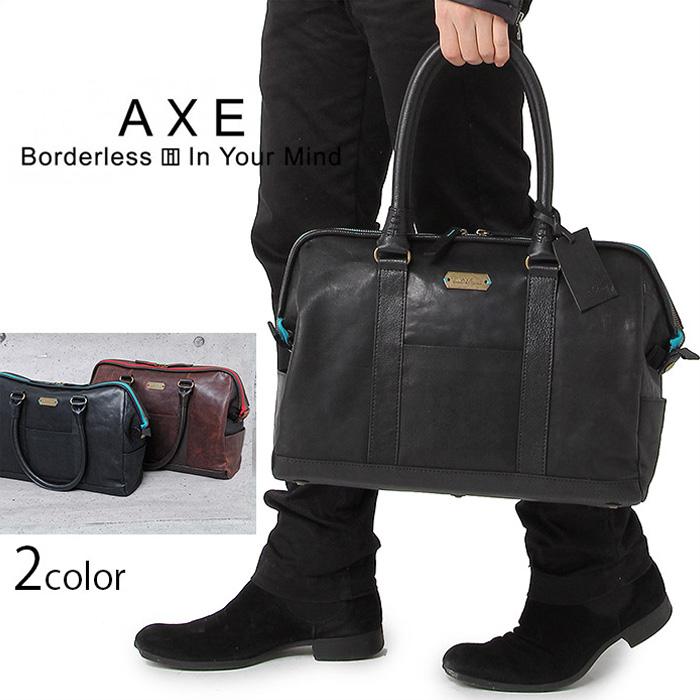 AXE アックス ボストンバッグ スパイス 142312 イケテイ ゴートレザー 牛革 メンズ 送料無料