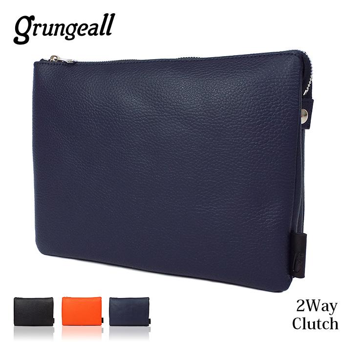クラッチバッグ メンズ grugeall グランジオール 2気室 ショルダーバッグ レディース 全4色 本革 gr-204