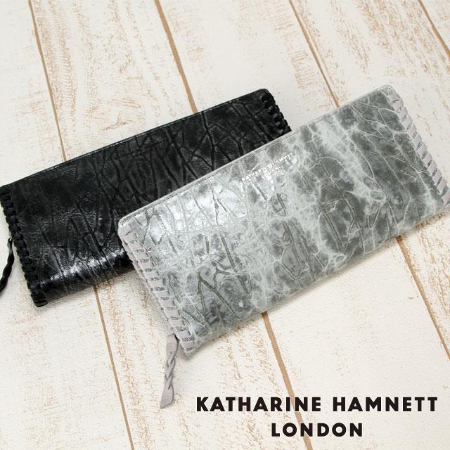 キャサリンハムネット 長財布 ラウンドファスナー KATHARINE HAMNETT Edge 490-53005 メンズ 革