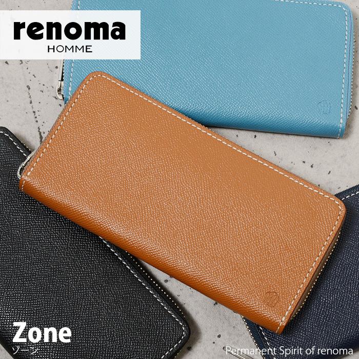 長財布 ラウンドファスナー レノマ renoma ゾーン 515616 メンズ 革 送料無料 財布 送料無料