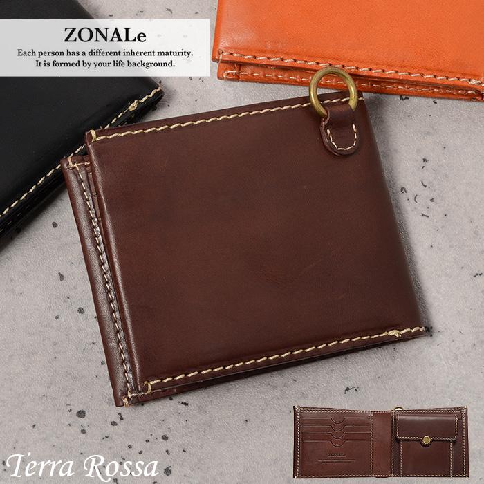 ゾナール 二つ折り財布 メンズ 革 ZONALe テラロッサ 31043 メンズ 財布 革 イタリアンレザー あす楽対応 父の日ギフト